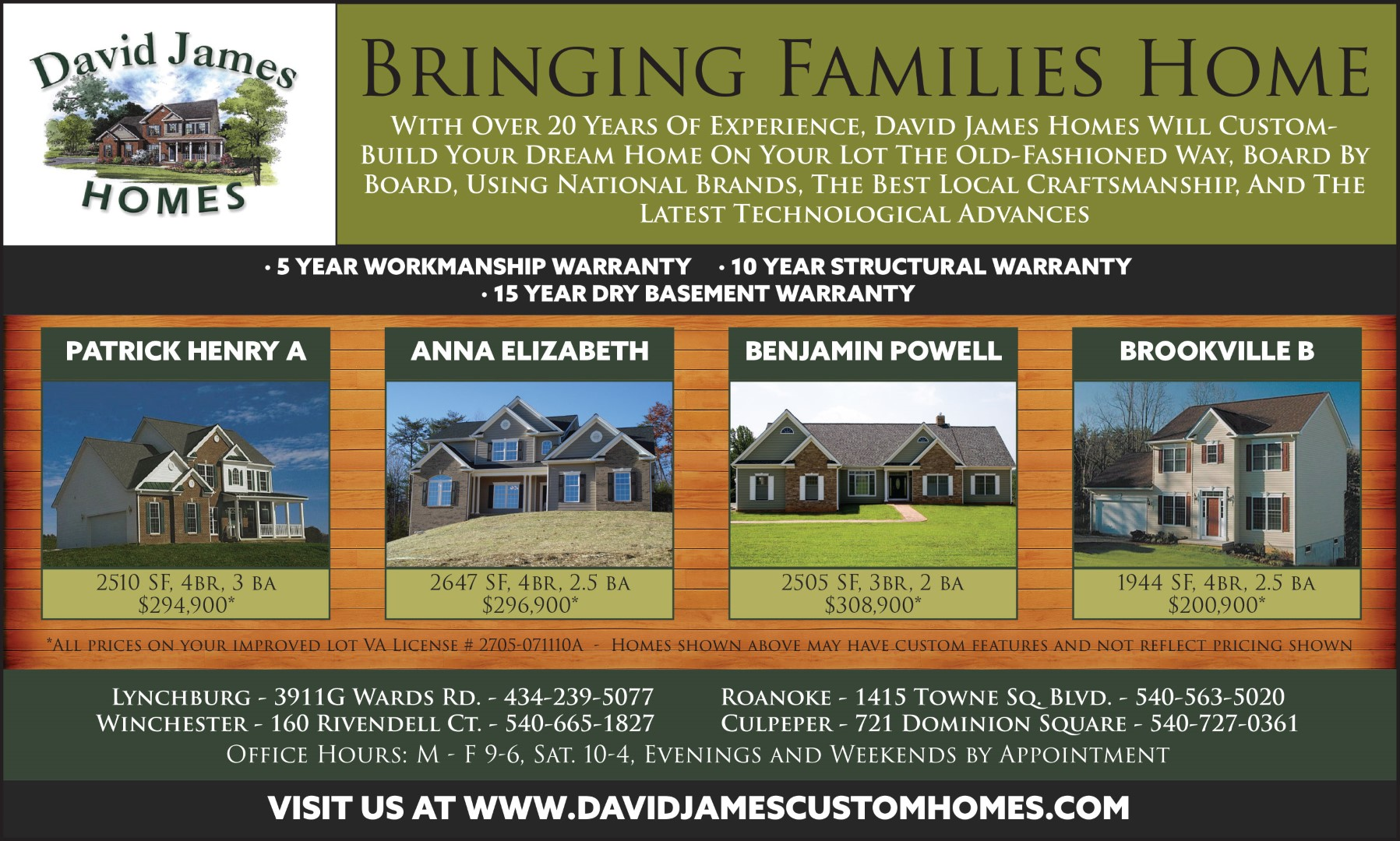 David James Custom Homes
